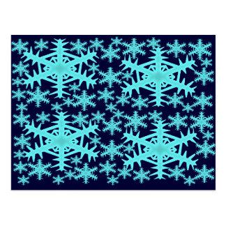 Winter-Schneeflocken Postkarte