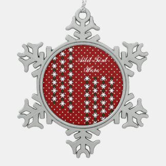 Winter-Schneeflocken Schneeflocken Zinn-Ornament