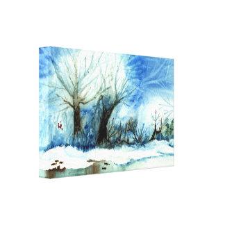 Winter See Galerie Falt Leinwand