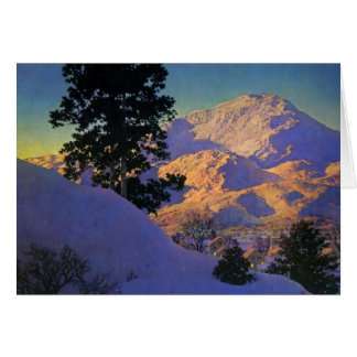 Winter-Sonnenaufgang durch Maxfield Parrish Karte