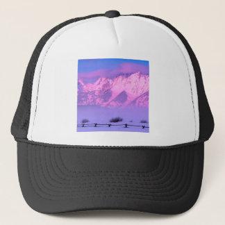 Winter-Sonnenaufgang großartiges Teton Wyoming Truckerkappe