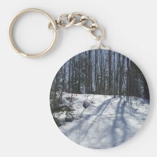Winter-Sonnenaufgang Schlüsselanhänger