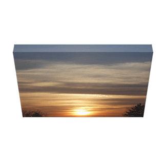 Winter-Sonnenuntergang Leinwanddruck