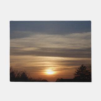 Winter-Sonnenuntergang Türmatte