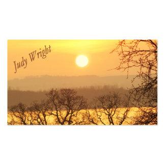 Winter-Sonnenuntergang-Visitenkarte
