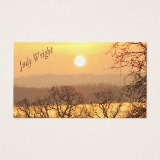 Winter-Sonnenuntergang-Visitenkarte Visitenkarten