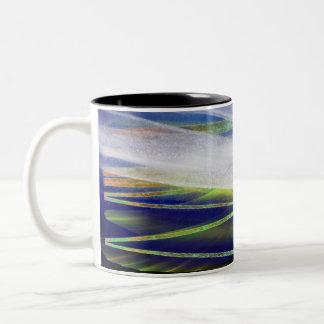"""Winter-Sonnenwende """"arktische helle"""" Zweifarbige Tasse"""