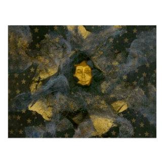 Winter-Sonnenwende Eve - Collage Postkarte