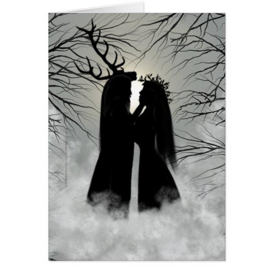 Winter-Sonnenwende-Gott und Göttin Grußkarte