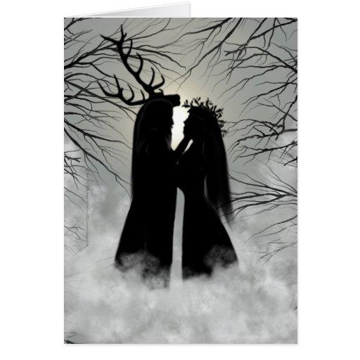 Winter-Sonnenwende-Gott und Göttin Grußkarten