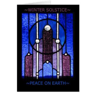 Winter-Sonnenwende-Gruß-Karte