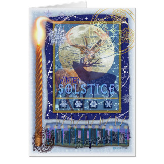 Winter-Sonnenwende Grußkarte