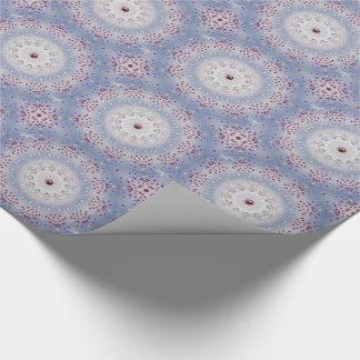 Winter-Sonnenwende-Mandala und Granat Einpackpapier