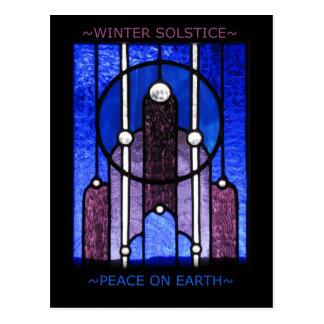 Winter-Sonnenwende-Postkarte