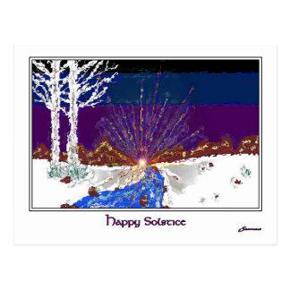 Winter-Sonnenwende Postkarte