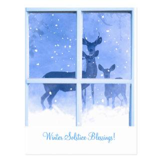 Winter-Sonnenwende-Segen-Rotwild-Postkarte