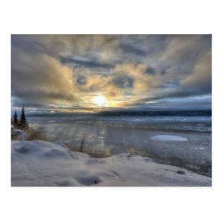 Winter-Sonnenwende Turnagain Arm Postkarte
