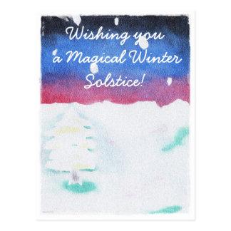 Winter-Sonnenwendesnowy-Szenen-Weihnachten Postkarte