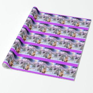 Winter-Spielplatz-Packpapier Geschenkpapier