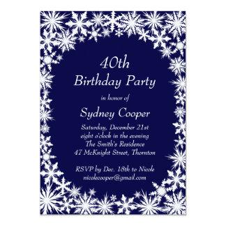 Winter-Spitze-40. Geburtstags-Party Einladung -