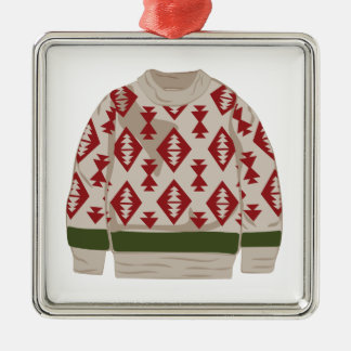 Winter-Strickjacke Silbernes Ornament