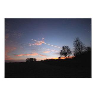 Winter sunset fotodruck