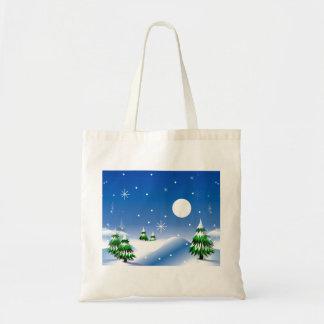 Winter-Szene auf Taschen-Tasche Tragetasche