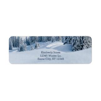 Winter-Szenen-Adressen-Etikett