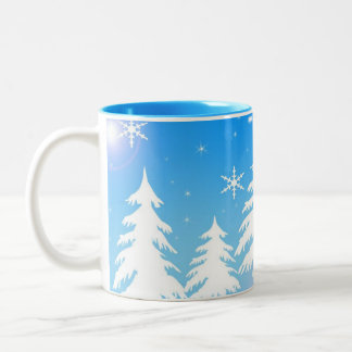 Winter-Szenen-Kaffee-Tasse Zweifarbige Tasse