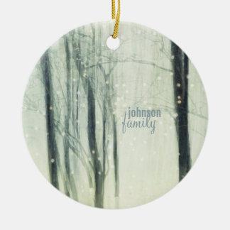 Winter-Traum Rundes Keramik Ornament