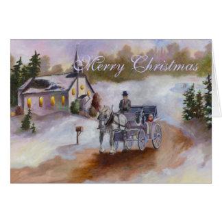 Winter-Traumweihnachtskarte Karte