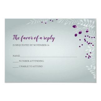 Winter verzweigt sich Hochzeit UAWG Karte