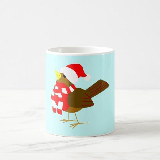 winter Vogel bird Kaffeetasse