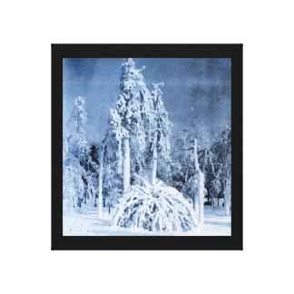 Winter von 1911 am Aussicht-Park Galerie Gefaltete Leinwand