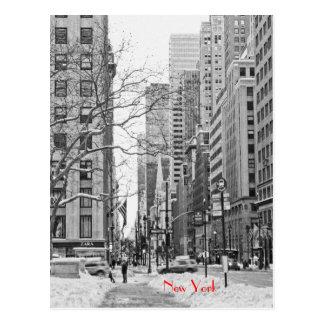Winter vor NY Penn Stations-Postkarte Postkarte
