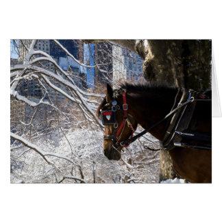 Winter-Wagen-Pferd Karte