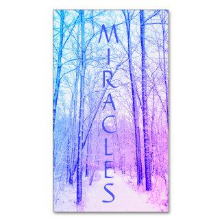 Winter-Waldwunder-Magnet Visitenkartenmagnet