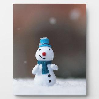 Winter-Weihnachtsschnee-Spielzeug Fotoplatte