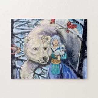 Winter wickelt Polarbear Puzzle