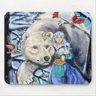 Winter wickelt polares Bear~mousepad Mauspad