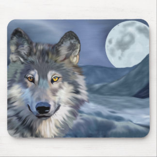 Winter-Wolf-Vollmond Mousepad