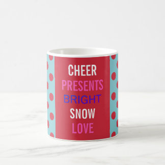 Winter-Wünsche feiern die Feiertags-Party-Tasse Kaffeetasse
