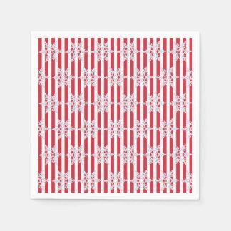 Winter wünscht Feiertags-Streifen-Party-Servietten Papierserviette