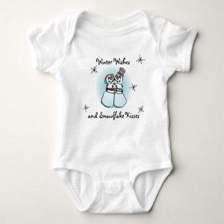 Winter wünscht Snowman-Shirt-Entwurf Baby Strampler