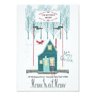 Winter-Zuhause-neue Adressen-Mitteilung Karte