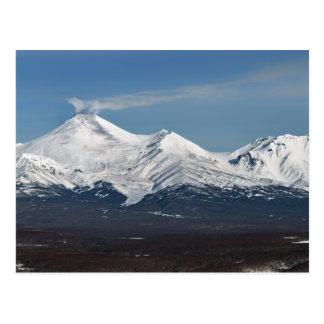 Winteransicht von Avacha Vulkan in Kamchatka Postkarte
