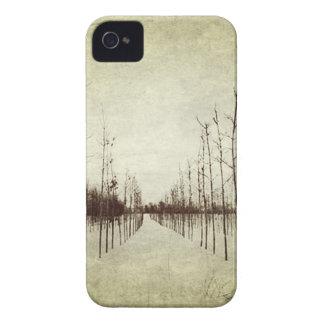 Winterbaum des Land-Graslands ländlicher iPhone 4 Hüllen