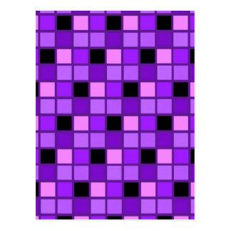 Winterberry-Lavendel-lila Harlekin-Designer Postkarte