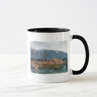 Wintercattails-Wecker-Tasse Tasse