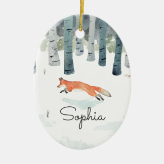 WinterFox Keramik Ornament